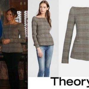 Theory, off the shoulder, hadfield jacket, NWT